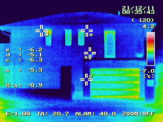 ICF house thermo cam