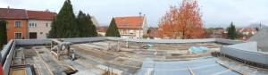 energiatakarékos hőszigetelő zsaluzattal épülő családi ház, Eger födém szerkezet zsaluzata elkészült