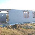 icf construction in progress near Miskolc from isoshell 40 walling element thermo insulated concrete form passive element  a