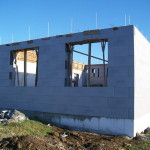 icf construction in progress near Miskolc from isoshell 40 walling element thermo insulated concrete form passive element  b