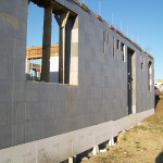 icf construction in progress near Miskolc from isoshell 40 walling element thermo insulated concrete form passive element  d