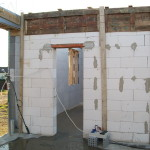 icf construction in progress near Miskolc from isoshell 40 walling element thermo insulated concrete form passive element  g