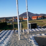 icf construction in progress near Miskolc from isoshell 40 walling element thermo insulated concrete form passive element  l