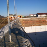 icf construction in progress near Miskolc from isoshell 40 walling element thermo insulated concrete form passive element m